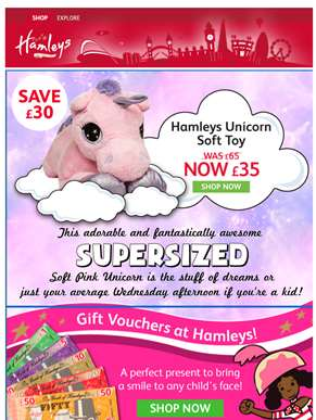 Cute alert: Supersized Unicorns at Hamleys!