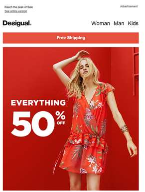 Everything at 50% off! ??