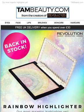?? Rainbow Highlighter Back in Stock! ??