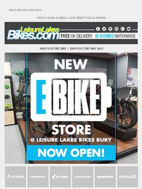 NEW E-Bike Store @ LLB BURY!