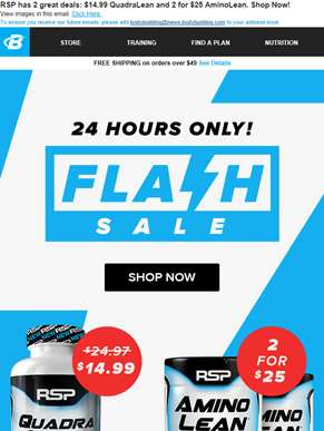 ?? Flash Sale ?? 2 Deals from RSP!