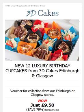 ??NEW 12 Luxury Birthday Cupcakes just £9.50 ?? SAVE 79% ??   - Offer ends midnight tonight! 5 New d
