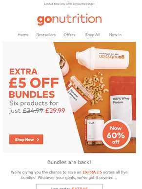 Extra £5 off Bundles... Now just £29.99 and 60% off RRP!