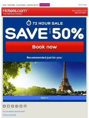 * FLASH SALE ALERT * 72 hours only! Includes deals in Paris