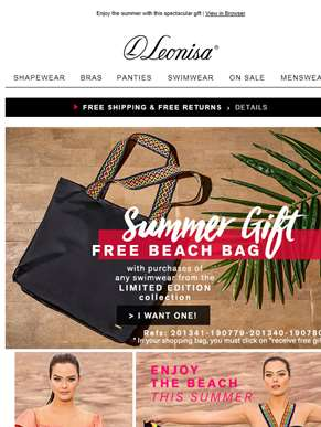 FREE Beach Bag! Perfect for Summer