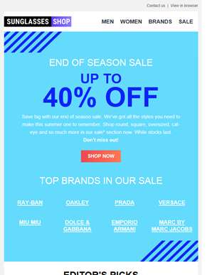 Are you ready for our end of season SALE?