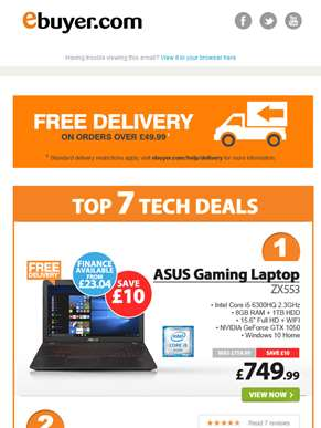 Hi  - ASUS Core i5 Gaming Laptop - Now Under £750