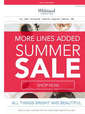 SALE ON: More lines added