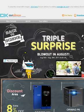 Triple Surprise Blowout In August!
