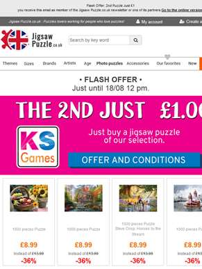 Flash Offer: 2nd Puzzle Just £1