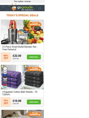 Dont Miss These Free Delivery Deals! 21pc Bullet Blender £22 | Large Garden Storage Box £37 | Harrin