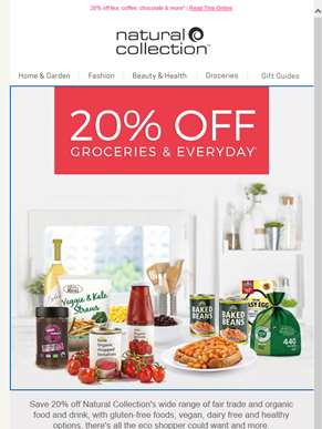 20% Off Your Groceries*