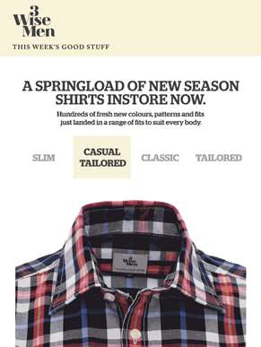 A Springload of New Season Shirts In Store & Online Now!