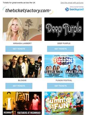 Miranda Lambert, Deep Purple, Blondie, Fusion Festival & much more…