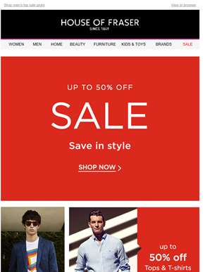 Sale's best offers: up to 40% off watches + tees, suits and more
