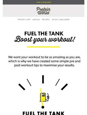 Boost Your Workout! ??