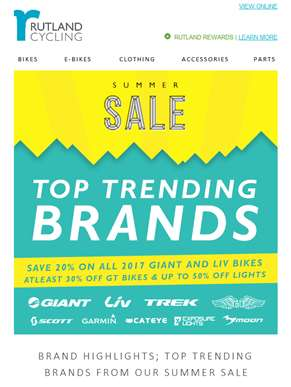 Top Trending Brands from our Summer Sale