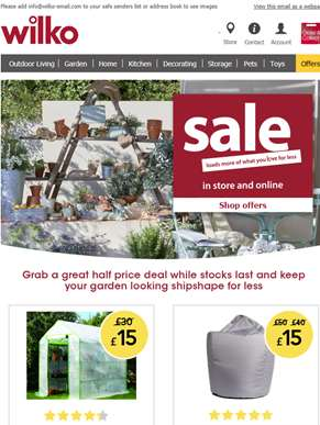 Hurry, don't miss out on our garden sale