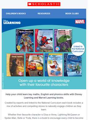 Open a whole new world of learning with Disney