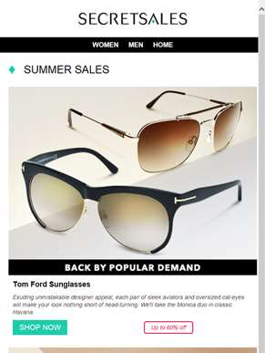 Summer Sales: Tom Ford Sunglasses, Grendha Sandals and Warehouse