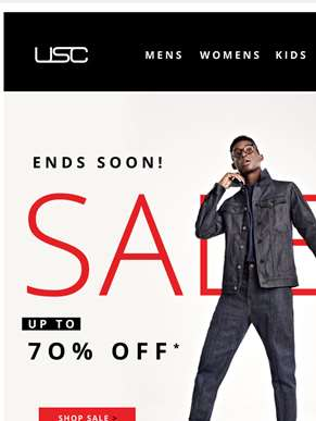 SALE ends soon! Up to 70% OFF......
