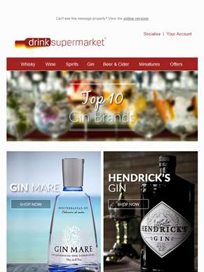 Our Top 10 Gin Brands Hand-Picked For You