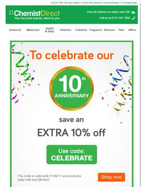 Join our 10th Anniversary celebrations