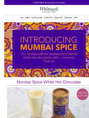 New turmeric hot chocolate