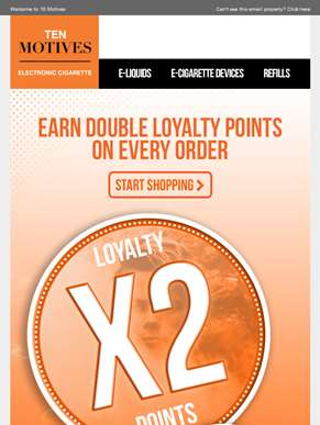 Hurry! Double Double Loyalty Points On All Purchases Ends 5pm Today!