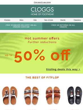 Hot Summer Offers Now 50% Off!