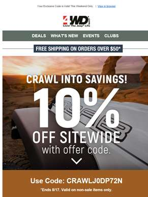 ? Crawl Into Savings Event: This Will Make You Smile.