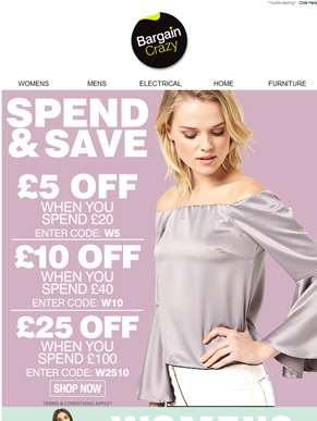 Spoil yourself this weekend and get £25 OFF!