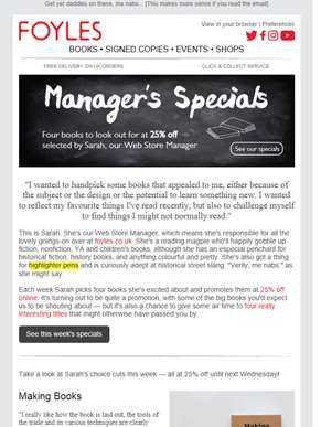 Handpicked by Sarah: Meet this week's Manager's Specials