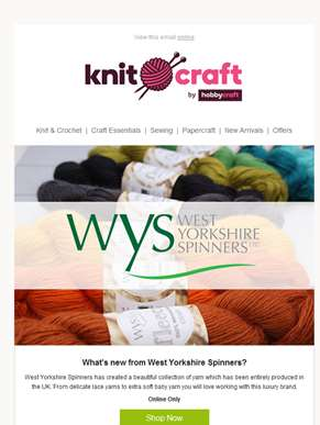 Bo Peep yarn from West Yorkshire Spinners - Only £4