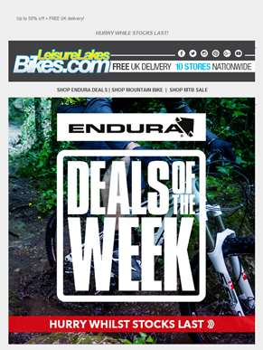 ENDURA DEALS OF THE WEEK! ??