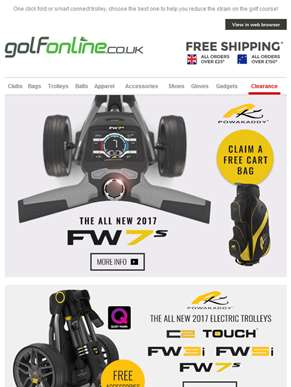 You can walk the walk but why not do it in comfort with a new Golf Trolley!