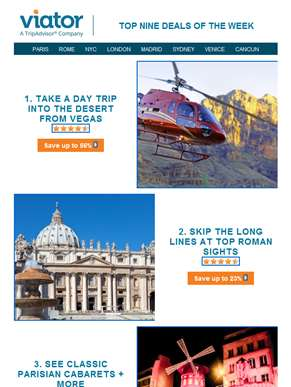 Top 9 Travel Deals: Save in Las Vegas, Rome + Beyond
