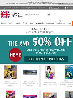 Flash Offer: Get your HEYE puzzle half price