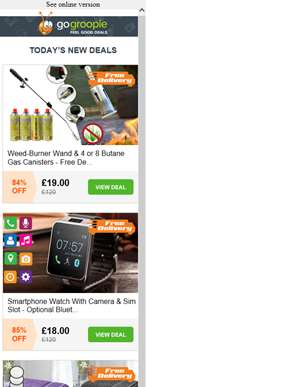 Delivery Included Inside! Gas Powered Weed Burner & Canisters £19 | Smartphone Watch with Camera £18