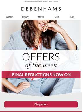 Offers of the week + 10% off women's clearance