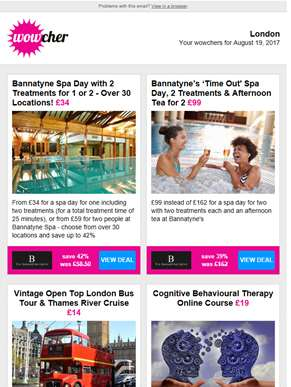 Bannatyne Spa Day & 2 Treatments £34 | Luxury Bannatyne Spa Day for 2 £99 | Open Top Bus Tour & Tham