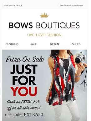 EXTRA 20% OFF ALL SALE ITEMS! ?? MORE LINES ADDED