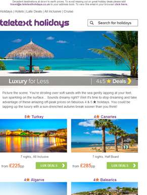 Decadent deals | Go 4 & 5? in September from £139pp