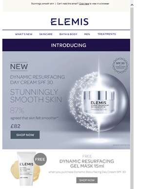 Introducing Dynamic Resurfacing Day Cream SPF 30