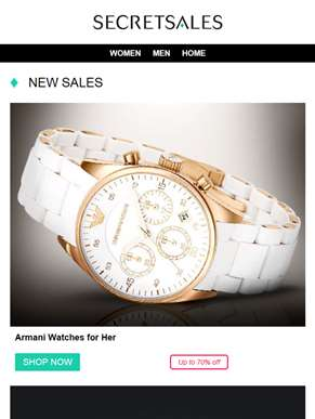 New this Weekend: Armani Women's Watches, Puma and Michael Kors Outlet