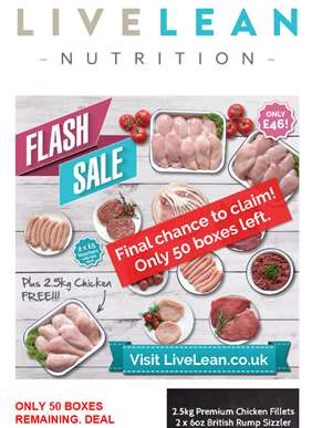 FREE 2.5KG Chicken - Claim today *ONLY 50 AVAILABLE*