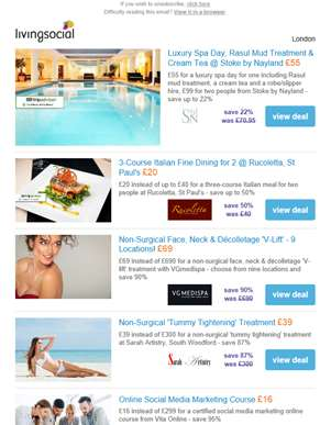 Deals for you: 4* Stoke by Nayland Spa & Treatment £55 | 3-Course Italian Fine Dining for 2 £20 | VG