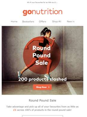 The Round Pound Sale... 100's of products from just £1! ??