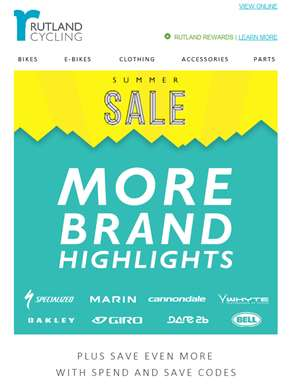 More Trending Brands from our Summer Sale