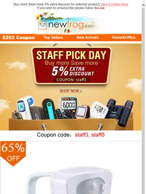 ?? Big Saving On Staff Pick Day--Newfrog